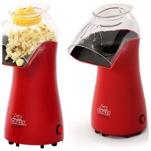 Air Crazy Electric Popcorn Popper w/Butter dish